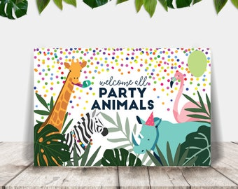 Printable Party Animals Banner