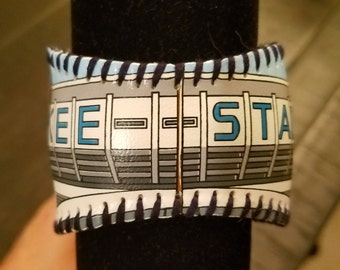 New York Yankees- Yankee Stadium Baseball Cuff Bracelet