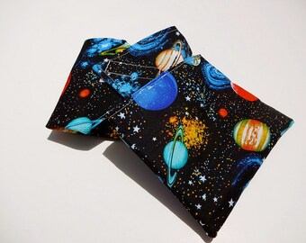 Space and Planets Reusable Lunch Duo - Sandwich Wrap and Snack Bag