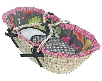Doll Moses Basket - Sleek Slate