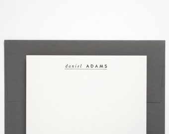 SOLEN Custom Letterpress Stationery - Personalized Note Card Set - Modern Design - Premiere
