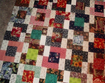 Quilt Top to Finish Happy Scrappy 48 x 56 inches