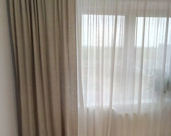Linen curtains Shabby chic curtains Linen Drapes Kitchen curtains Curtain panels Linen cafe curtains Custom curtains Window curtains