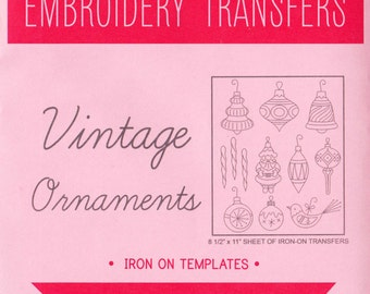 Christmas Hand Embroidery Pattern   Sublime Stitching Embroidery Patterns - Reusable, Iron On Designs for Christmas - Vintage Ornaments