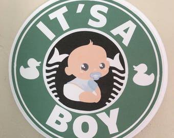 Starbucks  Coffee Baby Shower Cake Topper/ Centerpiece