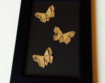 Origami | Butterfly | Cute | Love | Shabby Chic | Retro | Paper Craft | Kraft | Anniversary | Gift | Home