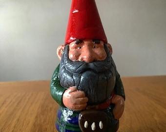 Small custom Scottish gnome wearing tartan kilt of your choice