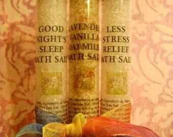 Bath Salt Sampler Collection   Fragrant Bath Salt   Soothing Bath Soak   3-Pack   Spa Quality Bath Salt   Detoxifying Soak   Choose 3, 2 oz.