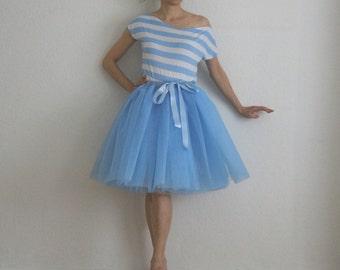 Tulle petticoat Water Blue 55 cm skirt