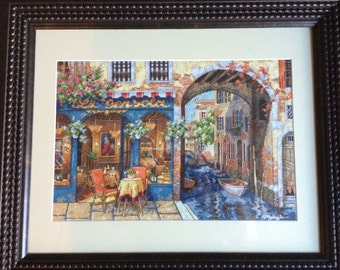 Completed Cross Stitch - Charming Waterway
