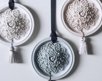 Tassel flower - Plaster air freshener / Plaster diffuser / home and car fragrances / home decor / ornament