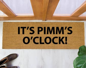 It's Pimm's O'Clock doormat - 120x40cm - Alcohol - Summer - BBQ - Party gift