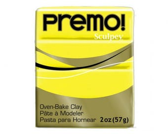 Clay PREMO Sculpey yellow Zinc 57g