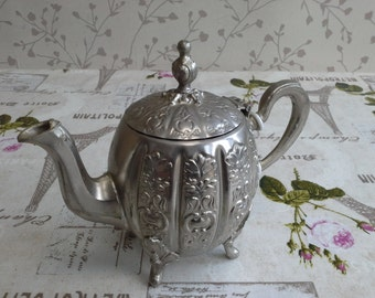 Vintage Thierere Moulay Abdelkadel. Silver Plated Tea Pot Moroccan