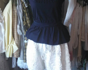 Midnight blue wrapped sash tank from the elegance in time line
