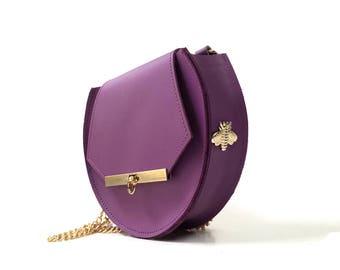 Loel Mini Military Bee Cross-body Bag in Radiant Orchid