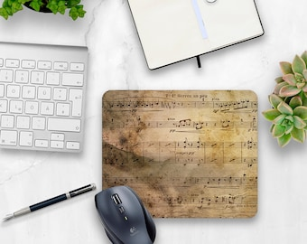 Music Teacher Gift, Music Note Mouse pad, Music Mouse Pad, Musician gift, Sheet Music, Music Lover, Home office, Desk accessories