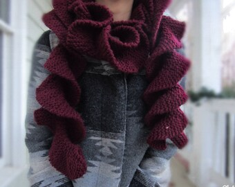 Knitted Potato Chip Scarf