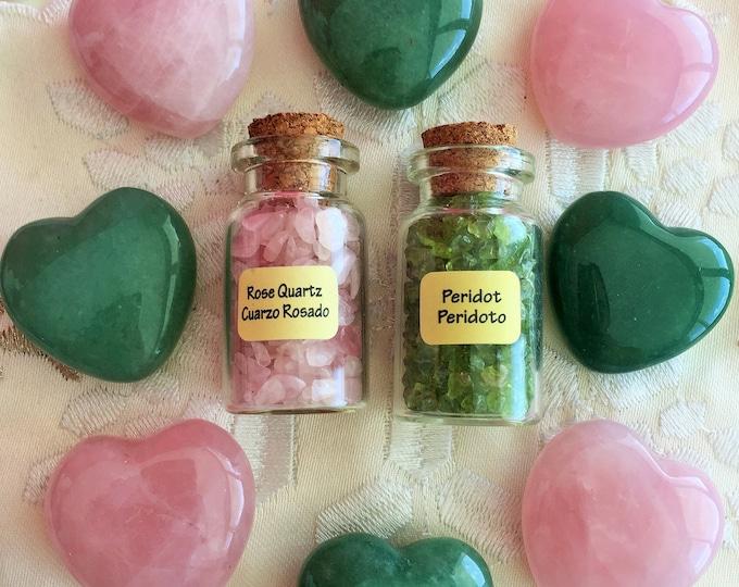 Crystal Healing Love Set perfect for Chakra Balancing, Reiki, and Meditation
