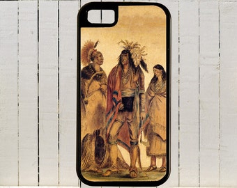 A Group Of Native Americans Painted By George Catlin ca 1850s  iPhones and Galaxys