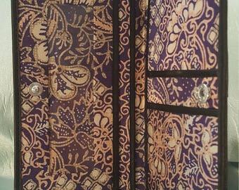 Bali Silk Checkbook holder Wallet