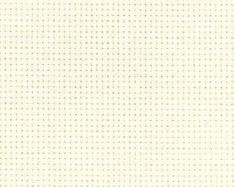 AIDA 16 Count Fabric. Antique White Cross stitch fabric. Permin embroidery cotton. Made in Copenhagen.