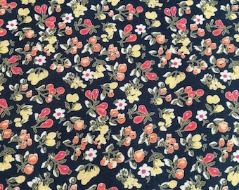 Sold out!  Floral Path Cotton Cambric Fabric by the Yard, Cotton by the Yard, Cotton Yardage, Yardage
