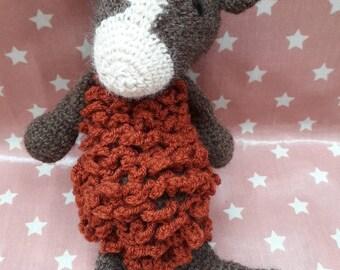Plush Toy sheep made crochet in Alpaca
