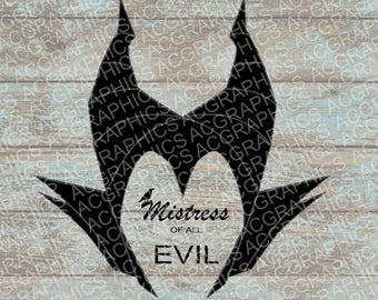 Maleficent Quote SVG, DXF, Jpeg, and Studio Downloads