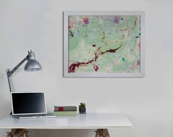 Modern Wall Art Abstract Wall Painting Unique Wall Lighting Framed Art with lights Glass art Abstract Wall Art Original Art Luxury Wall Art