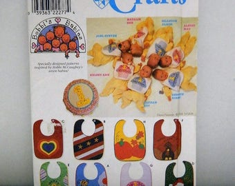 Simplicity Crafts Pattern 8427 - Bibs with Appliques - Vintage Uncut Pattern