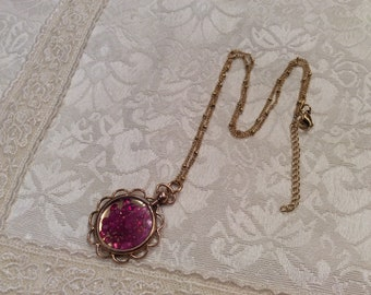 Victorian Ruby Rubies Unusual Gemstone Locket Antique Floating Authentic Precious Stone Gem Shake Necklace