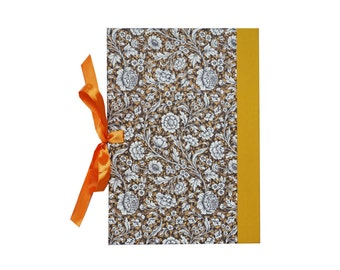 Accordion Folder DIN A4+ brown orange Renaissance Flowers