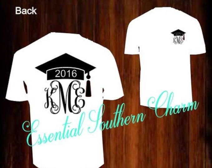 Graduation Monogram vinyl T-shirts