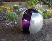 Rich Purple with Silver L...