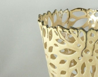 Ceramic vase Ceramic Flower Vase Ceramic Flower Pot Decorative Vase Ceramics and pottery 9th anniversary gift for her Ivory Vase