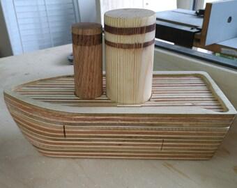 Handmade Wood Toy Boat