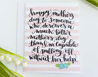 Funny Mothers Day Card, Mothers Day Funny Card, Funny Mom Card, Mother's Day Card, Mothers Day Card, Card for Mum, Card for Mom,Mom Birthday