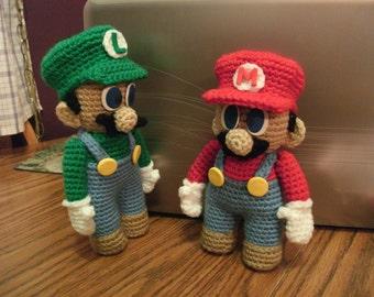PATTERN Mario & Luigi Doll Combo Pattern Set - DOWNLOADABLE