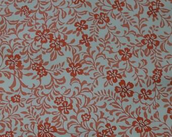 Vintage Japanese Silk Kimono Fabric Blossom and Foliage