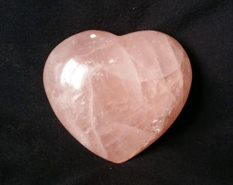 Rose Quartz Crystal Heart Pink Quartz Heart Shaped Healing Crystals | Healing Stones | Rocks and Minerals 1182