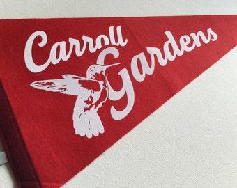 Brooklyn Carroll Gardens Pennant. Wool Felt