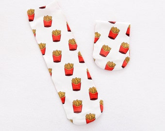 Potato chips socks.french fries socks.macca socks.