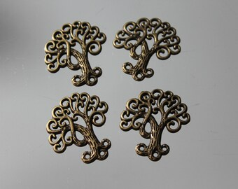 4 tree of life pendant antique bronze - infinity - charm - charm - home - jewelry-connector