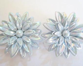 Metal Flower Clip Earrings