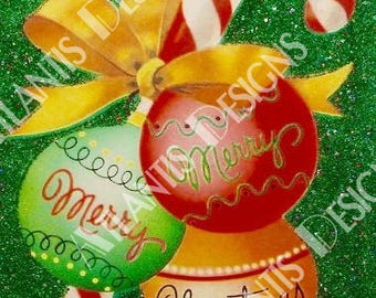 Merry Christmas Ornaments 2 x 3 Fridge Magnet