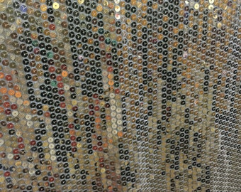 Gold Flat Sequins Fabric by the Yard