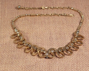 Sarah Coventry Celestial Fire Gold Tone Necklace - Vintage 1955