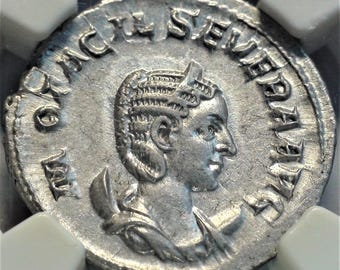 244-49 AD Ancient Rome Authentic Original Antique Roman Silver Coin Double Denarius Choice About Uncirculated NGC Gifts Gift  Rare Coins