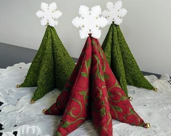 6 inch Fabric Tabletop Christmas Tree - Christmas Decor - Christmas Tree Decor - Stuffed Christmas Tree - Christmas Decoration
